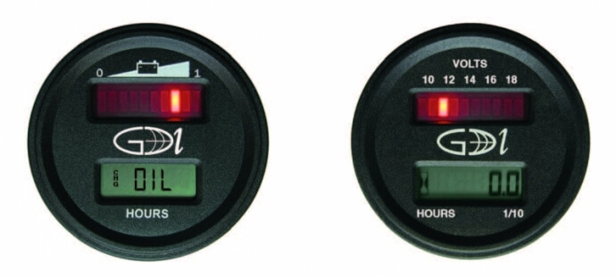 GDI Dual Gauge tachometer and hour meter
