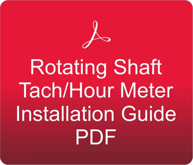 Rotating Shaft Tach/Hour Meter Installation Guide PDF