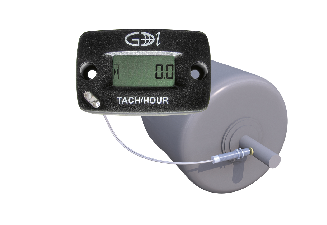 Diesel Engine Hour Meter : Rotating shaft tachometer hour meter